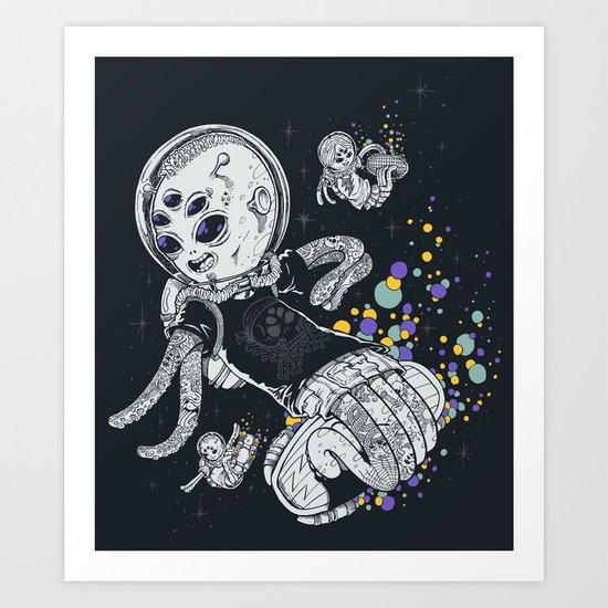 SKATE INVADERS Art Print