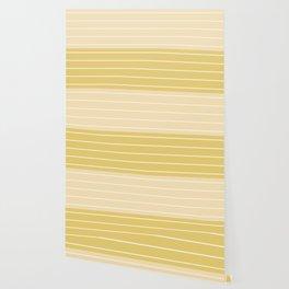 Two Tone Stripes - Yellow Wallpaper