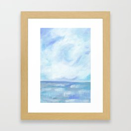 Warm Fall Days - Tropical Ocean Seascape Framed Art Print