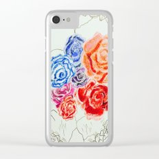 Skeleton Rose #2 Clear iPhone Case