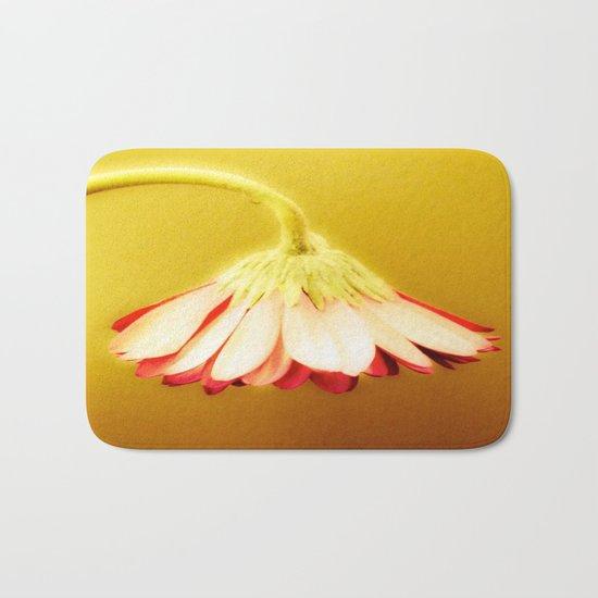 Flower   Flowers   Glowing Yellow Drooping Flower Bath Mat