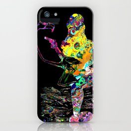 Psychedelic Alice silhouette iPhone Case