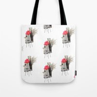 rooster Tote Bags featuring Rooster by Imanol Buisan