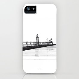 Grand Haven Lighthouse iPhone Case