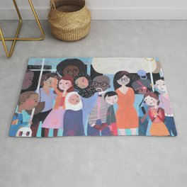 WHY AM I ME? SUBWAY SCENE Rug