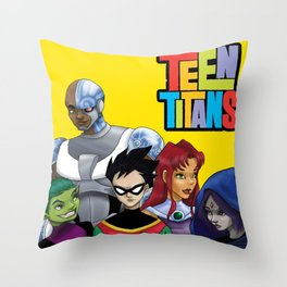 Teen Titans Throw Pillow