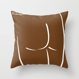 Back View Throw Pillow