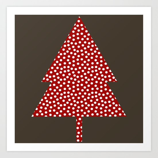 Christmas Tree brown Art Print