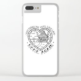 Lovesong, the cure Clear iPhone Case