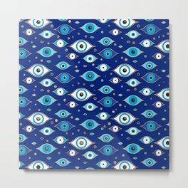 Greek Evil Eye pattern  Metal Print