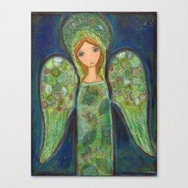 Angel Verde by Flor Larios Canvas Print