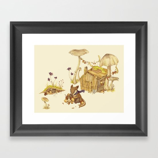 Harvey the Greedy Chipmunk Framed Art Print