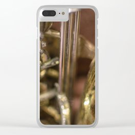 Saxophone detail Clear iPhone Case
