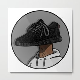 Sneaker Head - 350 Boost Metal Print