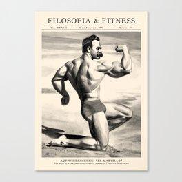 Filosofía & Fitness Canvas Print