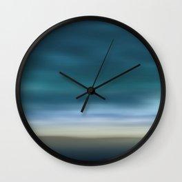 Dreamscape #7 blue-green Wall Clock
