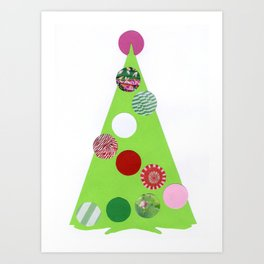 Xmas tree girlie Art Print