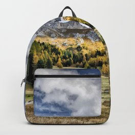 Dolomites landscape in Italy Backpack