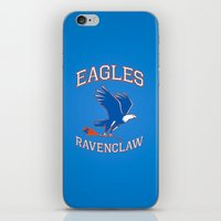 ravenclaw iPhone & iPod Skins featuring Eagles Ravenclaw by Fresco Umbiatore