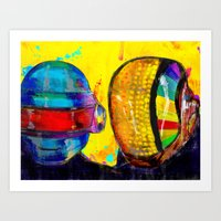 daft punk Art Prints featuring Daft Punk by Archan Nair