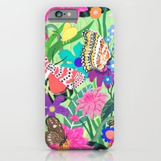 Butterfly and Moths Pattern - Green iPhone 6s Slim Case
