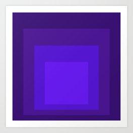 Block Colors - Neon Purple Art Print