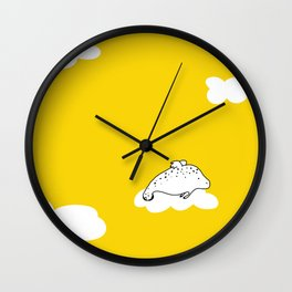 Flying Manatee by Amanda Jones Wall Clock