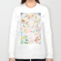 transparent Long Sleeve T-shirts featuring TRANSPARENT BEAUTY by mooshi0806