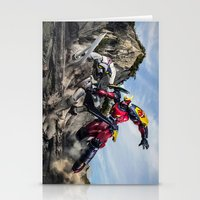 gurren lagann Stationery Cards featuring gurren battle by romar