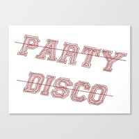 talking heads Canvas Prints featuring Talking Heads - No Party, No Disco by Taylor Starnes