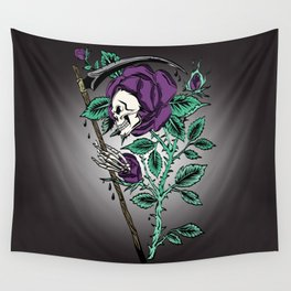 Grim Reaper Rose Wall Tapestry