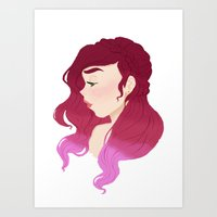 burgundy Art Prints featuring Burgundy by Tori Dubis