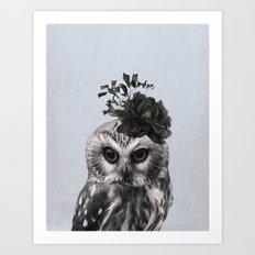 Portrait of Owl Art Print