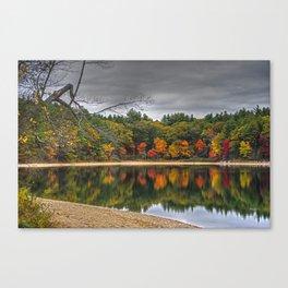 Walden Pond Fall Foliage Concord MA Canvas Print