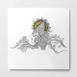 Shiva Moon Metal Print