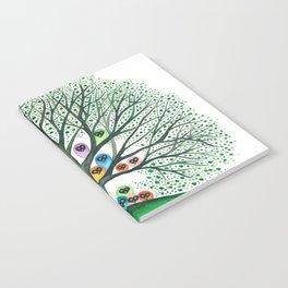 Teton Owls in Tree Notebook