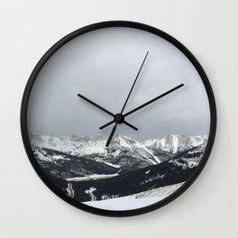 Keystone Mountains - Colorado Wall Clock