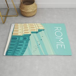 Rome italy travel poster Rug