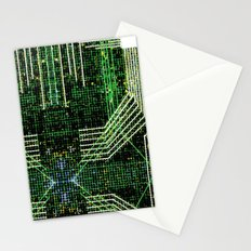 Circuit board very green zoom Stationery Cards