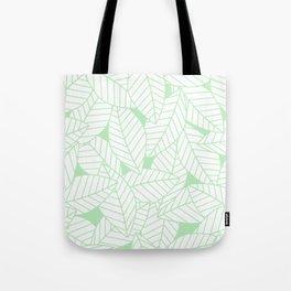 Leaves in Wintergreen Tote Bag