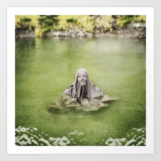 Guardian of the Lake Art Print