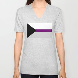 Demisexual Pride Flag Unisex V-Neck