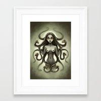 medusa Framed Art Prints featuring Medusa by Freeminds
