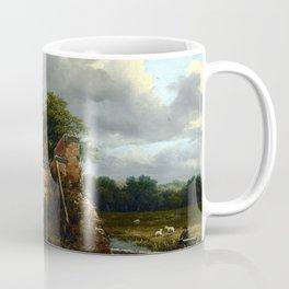 Jacob van Ruisdael Bridge with a Sluice Coffee Mug