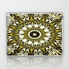 Yellow White Black Sun Explosion Laptop & iPad Skin