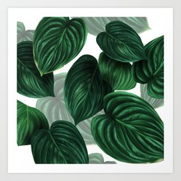 tropical green pattern Art Print