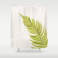 sword Shower Curtains featuring Sword Fern by Paul Edmondson