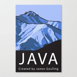 Java Programming Landscape poster Canvas Print