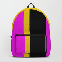 Rich modern colorful stripes Backpack