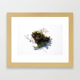 Eating dirt Framed Art Print